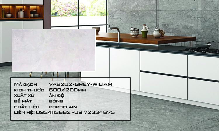 Gạch Nhập Khẩu Ấn Độ VA6202 600X1200 GREY WILIAM