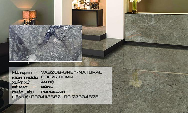 Gạch Nhập Khẩu Ấn Độ VA6206 600X1200 WILLIAM GREY NATURAL