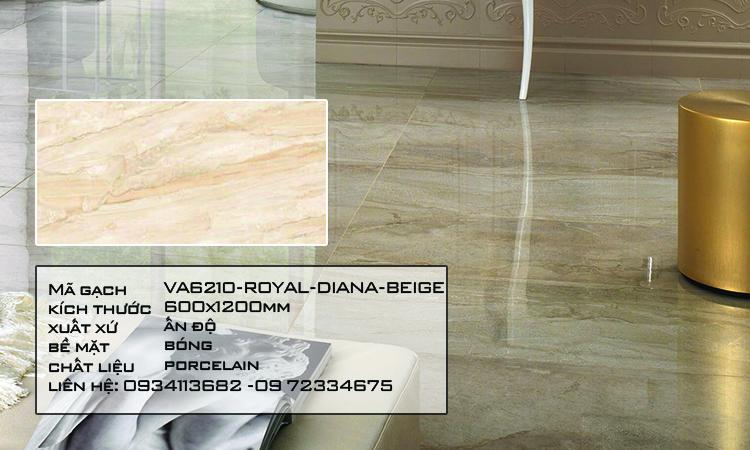 Gạch Nhập Khẩu Ấn Độ VA6210 600X1200 ROYAL DIANA BEIGE