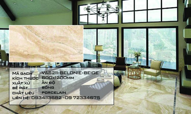 Gạch Nhập Khẩu Ấn Độ VA6211 600X1200 BELONIE BEIGE