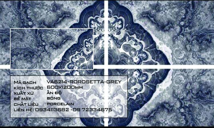 Gạch Nhập Khẩu Ấn Độ VA6214 600X1200 ROROSETTA GREY