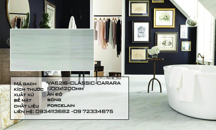 Gạch Nhập Khẩu Ấn Độ VA6216 600X1200 CLASSIC CARARA