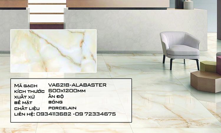 Gạch Nhập Khẩu Ấn Độ VA6218 600X1200 ALABASTER NATURAL