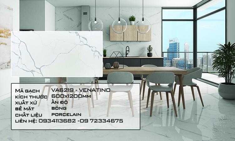 Gạch Nhập Khẩu Ấn Độ VA6219 600X1200 TRAVETINO VENATINO