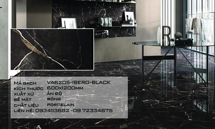 Gạch Nhập Khẩu Ấn Độ VA6205 600X1200 IBERO BLACK