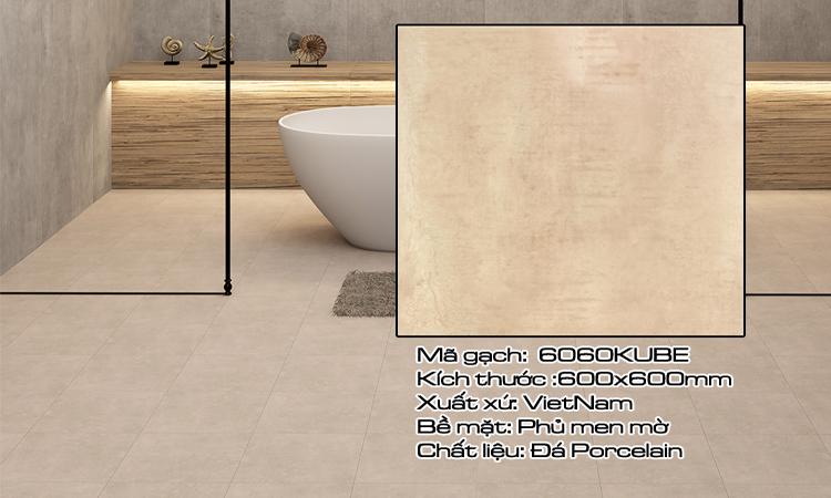 Gạch Lát Nền 60x60 HKE6060KUBE1