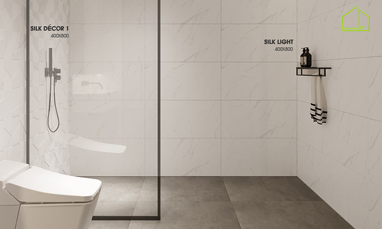 Mẫu gạch ốp tường 40x80 Sile Light